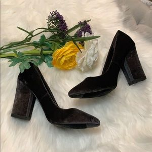 Shoes - NEW! Smoke Gray Block Heels Size  8.5